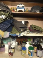 Bathroom cupboard-de cluttered once. Will need to again.